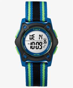 New! タイムマシーンデジタル ブルー/ブラック/グリーン ナイロンストラップ